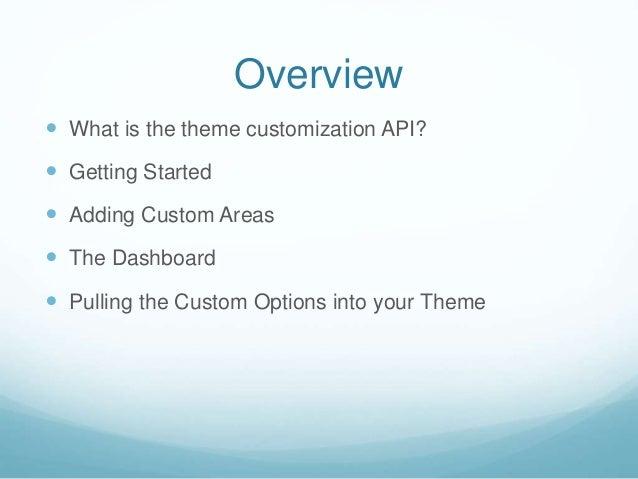 Theme customization Slide 3