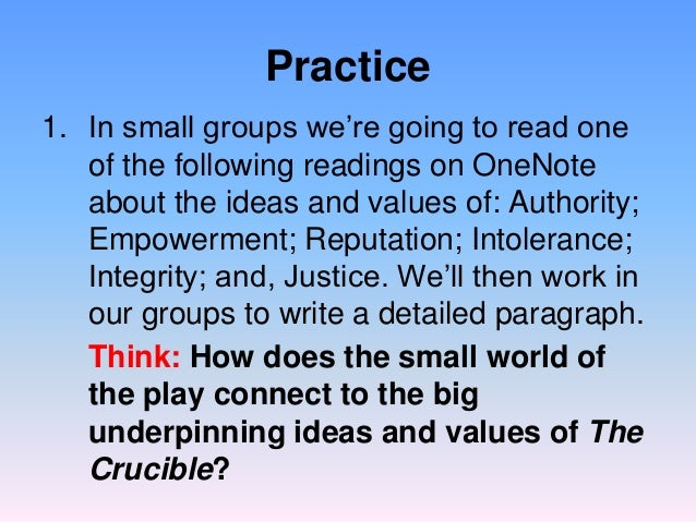 the theme of reputation in the crucible Get everything you need to know about reputation and integrity in the crucible  analysis, related quotes, theme tracking.