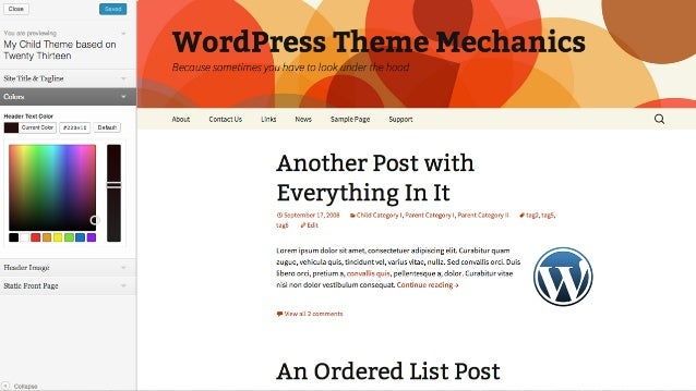 how to change site title font size in wordpress