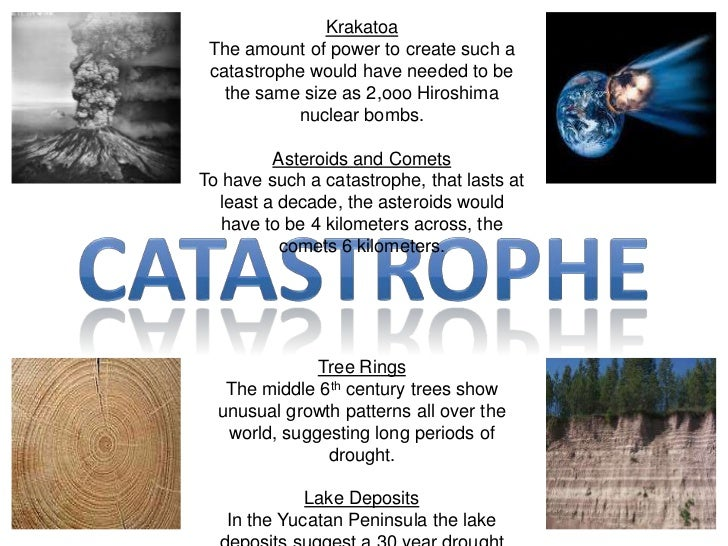 Krakatoa<br />The amount of power to create such a catastrophe would have needed to be the same size as 2,ooo Hiroshima  n...