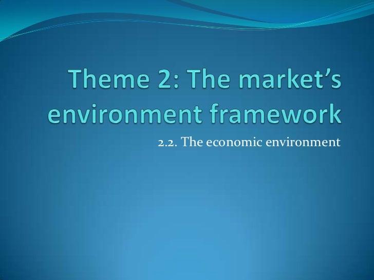 2.2. The economic environment