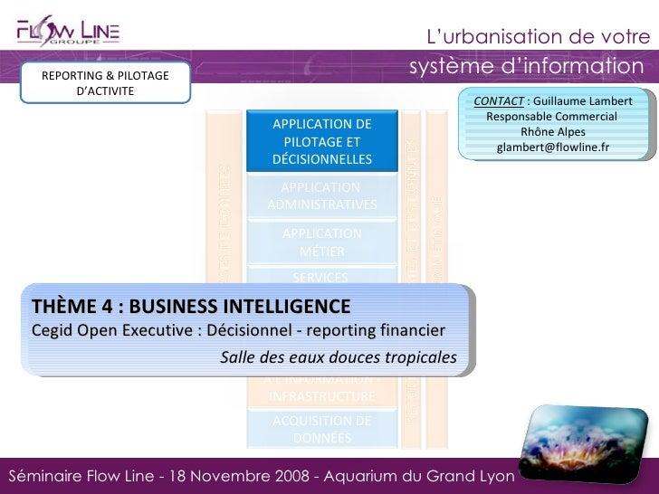REPORTING & PILOTAGE D'ACTIVITE THÈME 4 : BUSINESS INTELLIGENCE Cegid Open Executive : Décisionnel - reporting financier  ...