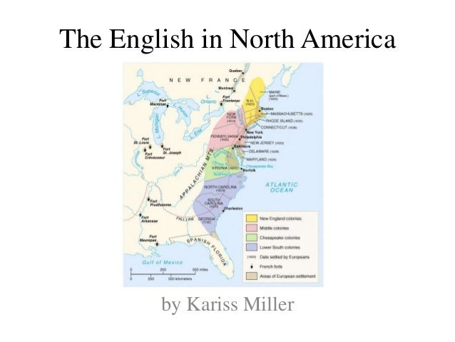 The English in North America by Kariss Miller