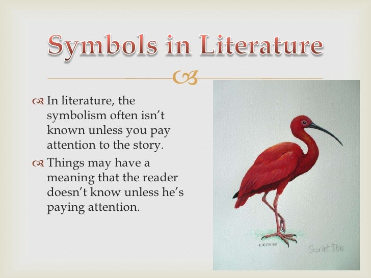 Symbolism In Literature Examples Literary Terms Project By Krystal