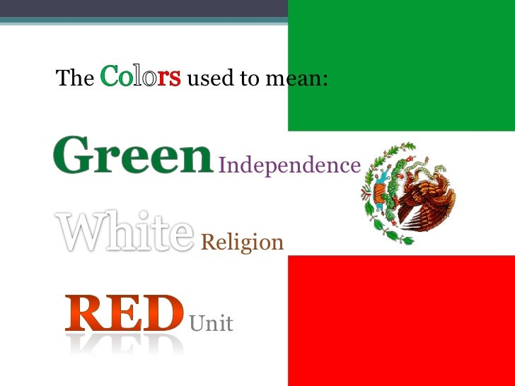 Mexican Flag Colors Selol Ink