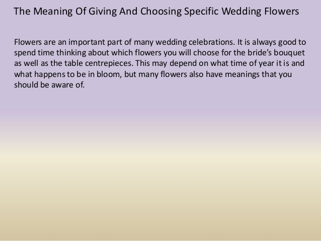 Giving flowers meaning