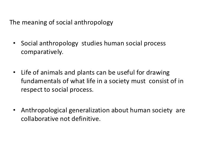SOCIAL ANTHROPOLOGY DEFINITION PDF