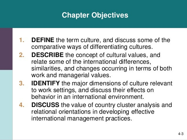 A comparison of the similarities and differences in the cultural value orientations and communicatio