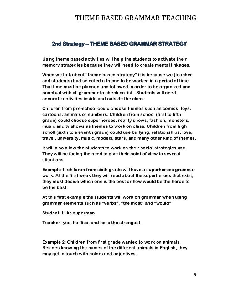 Theme based essay examples