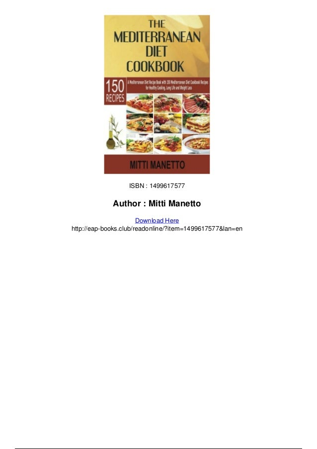 The mediterranean diet cookbook a mediterranean diet recipe
