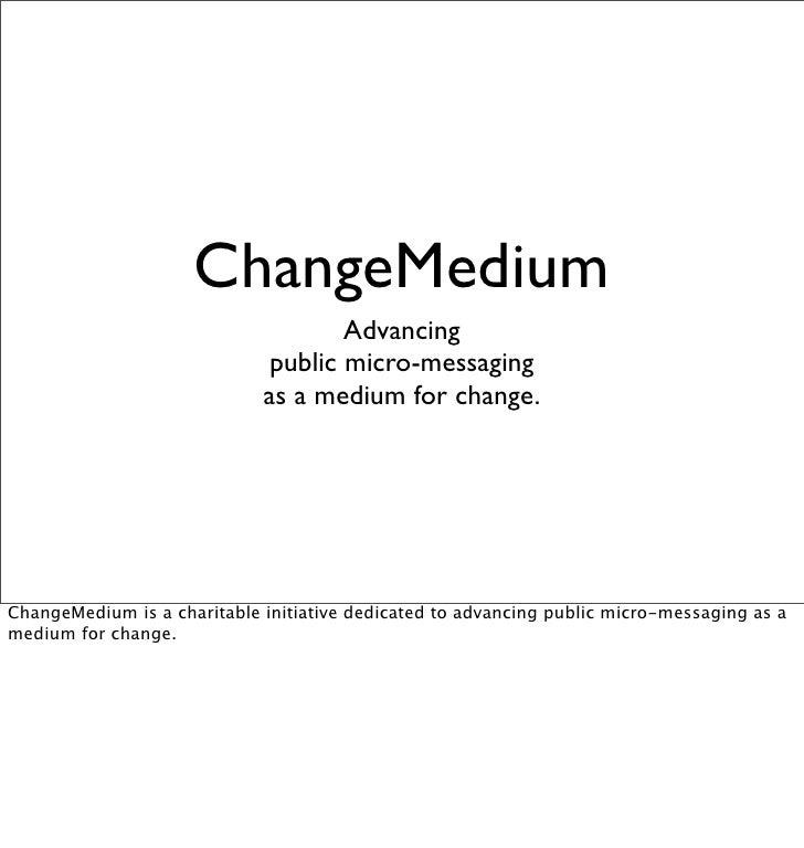 ChangeMedium