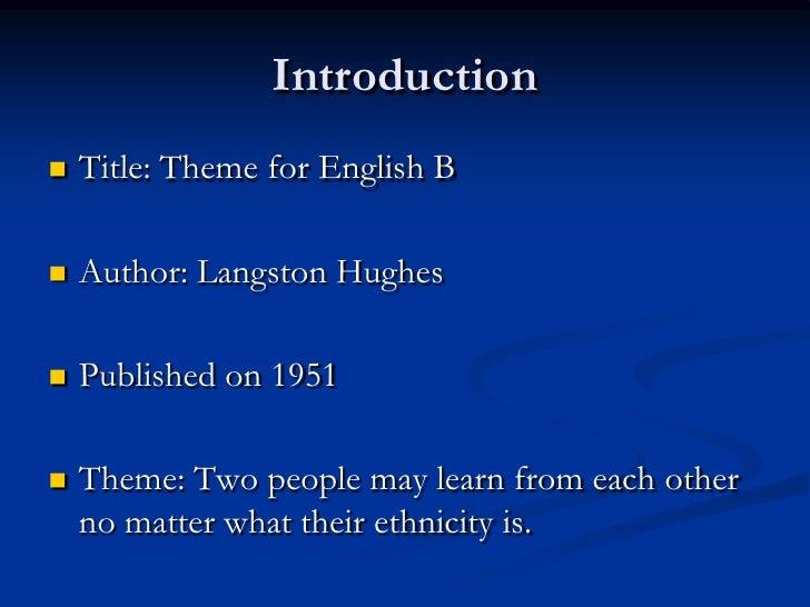 theme for english b setting