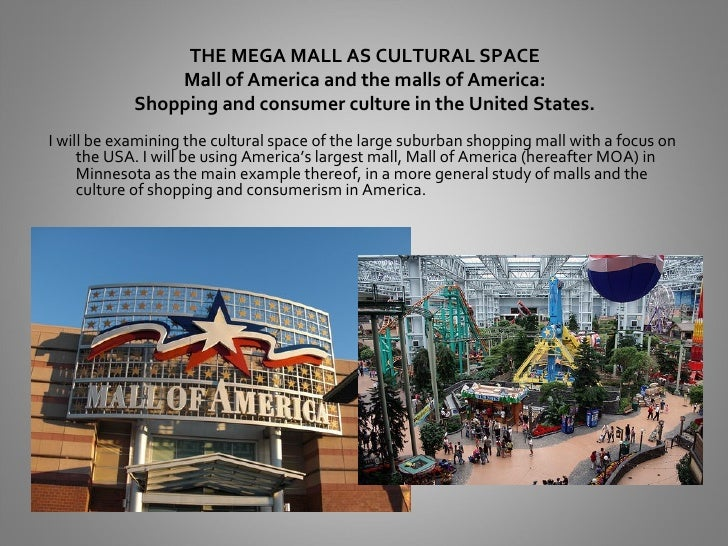 THE MEGA MALL AS CULTURAL SPACE                Mall of America and the malls of America:            Shopping and consumer ...