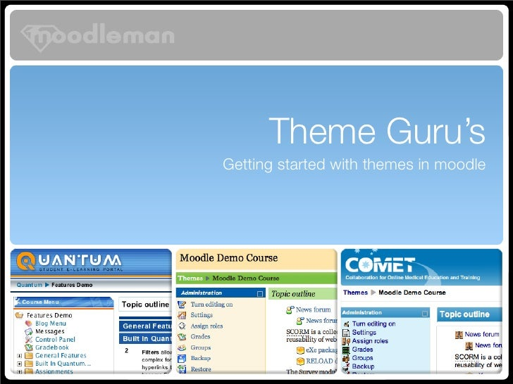 Theme Guru's Getting started with themes in moodle