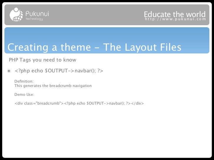 Educatew theuworld                                                               http://ww .puk nui.comCreating a theme - ...