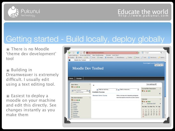 Educatew theuworld                                 http://ww .puk nui.comGetting started - Build locally, deploy globally๏...