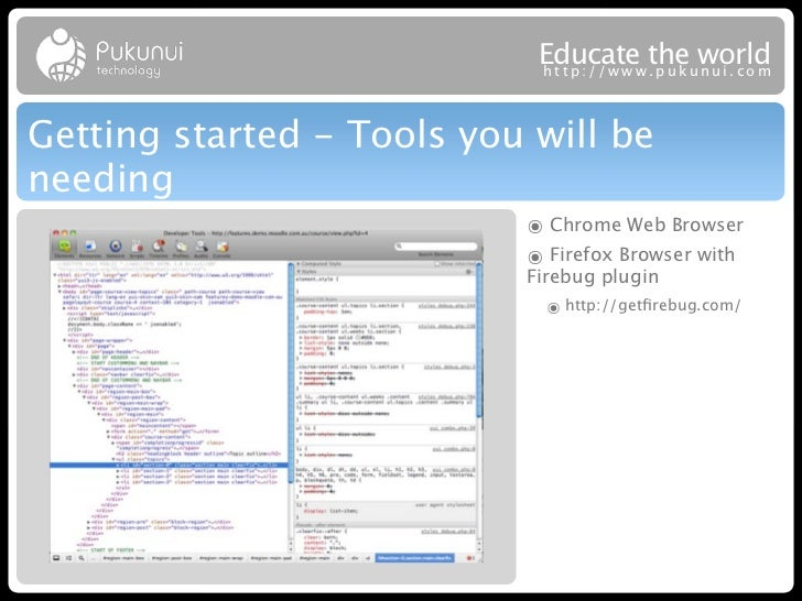 Educatew theuworld                            http://ww .puk nui.comGetting started - Tools you will beneeding            ...