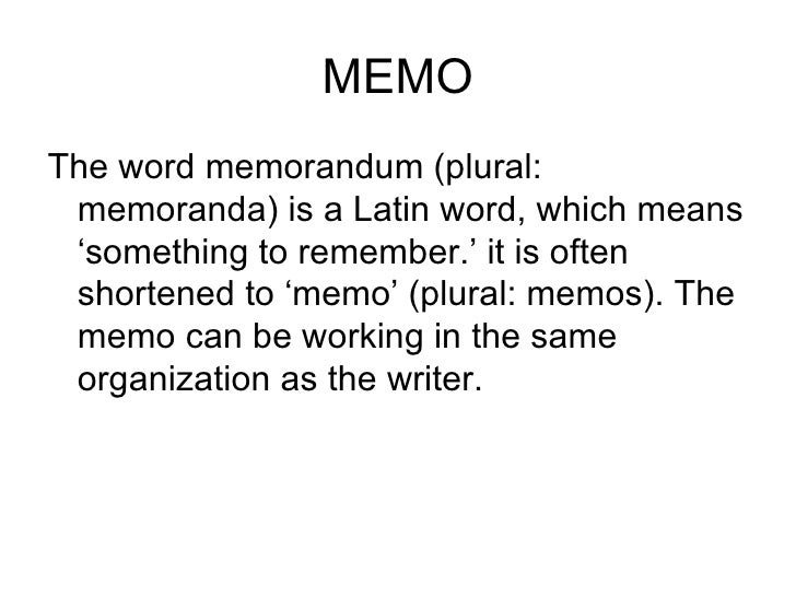 The Memorandum
