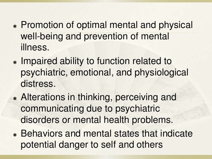 The Mental Health Nurse