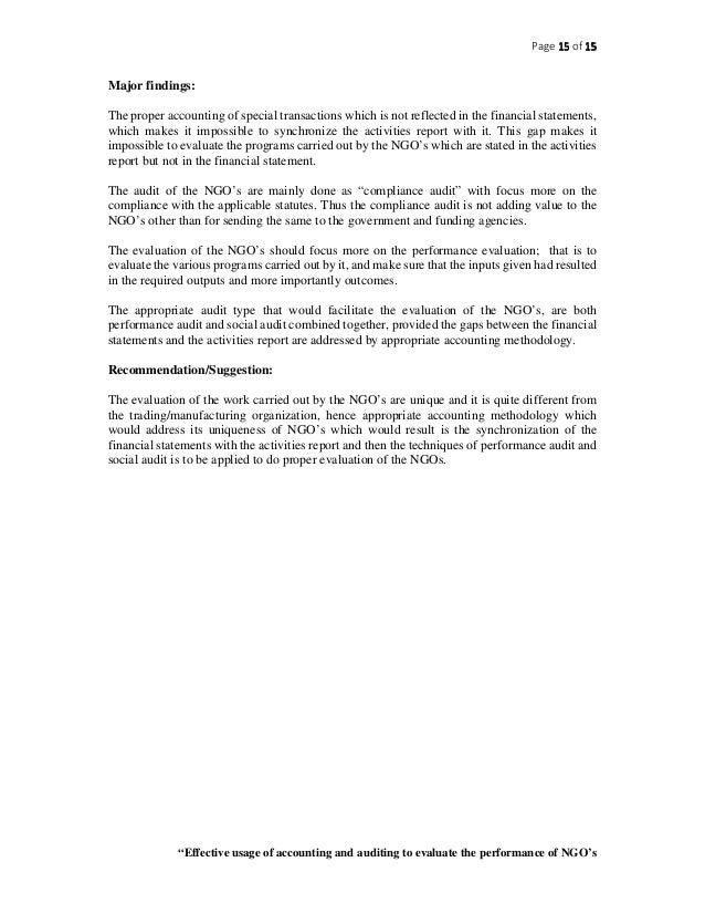 Non-Governmental Organizations (NGOs)