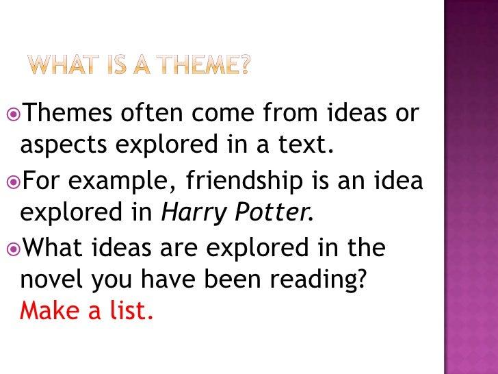 theme of a novel example