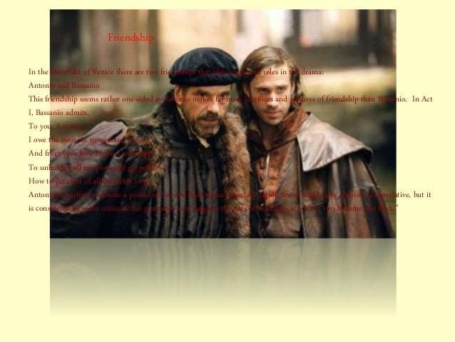 friendship in merchant of venice