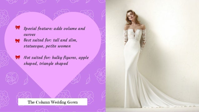 Well Trimmed Waists 6 The Column Wedding Gown