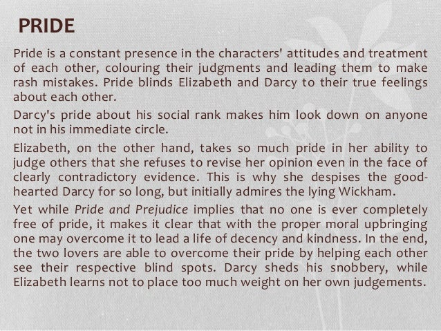 pride and prejudice themes essay