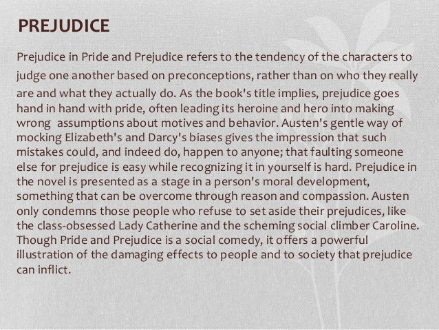 Pride and prejudice narrative essay