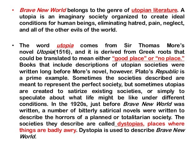 a description of the society on a brave new world View test prep - brave new world study guide from english ap literat at  atlantic high school, port orange this society functions like a factory, since they .