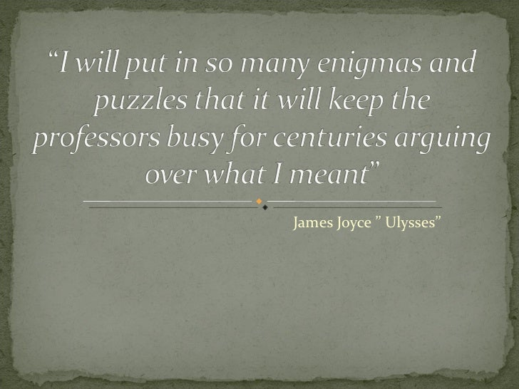 "James Joyce "" Ulysses"""