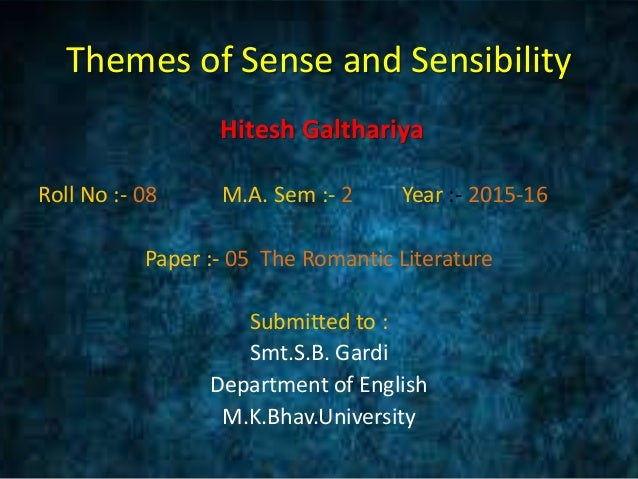 Sense and Sensibility Critical Essays