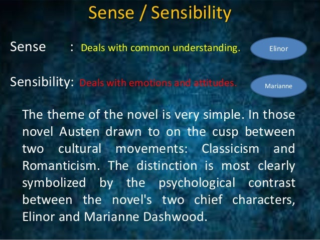 themes of sense and sensibility sense sensibility