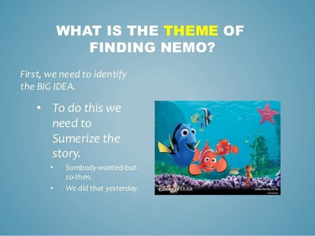 Teaching theme with finding nemo for Domon we the theme
