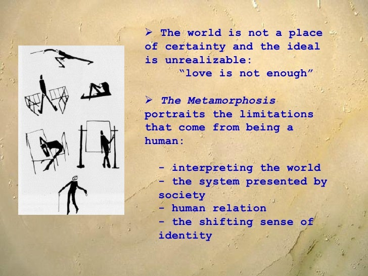 metamorphosis essay thesis Free essays from bartleby | franz kafka is said to be one of the most influential  writers of his time his short story 'the metamorphosis' is considered to.