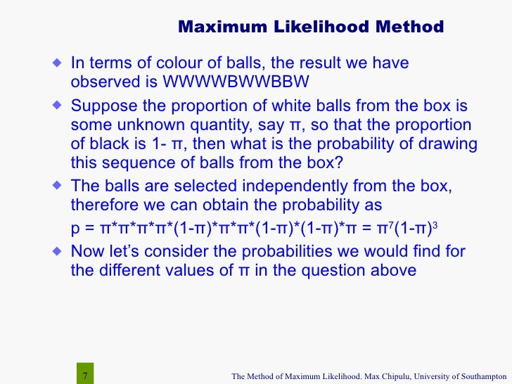 the method of maximum likelihood. Black Bedroom Furniture Sets. Home Design Ideas