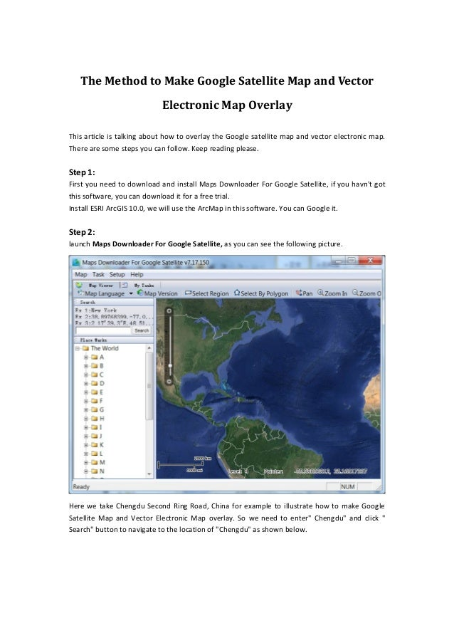 The method to make google satellite map and vector electronic map ove the method to make google satellite map and vector electronic map overlay this article is talking gumiabroncs Gallery