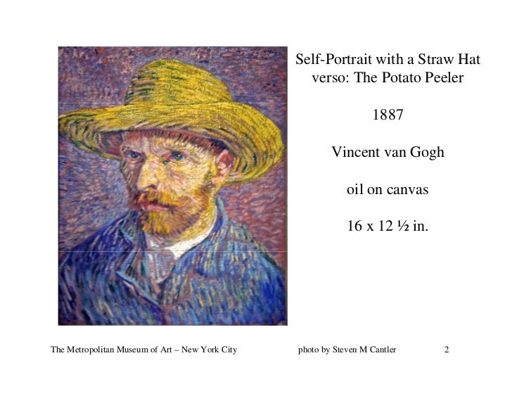 Self-Portrait with a Straw Hat                                                   verso: The Potato Peeler                 ...
