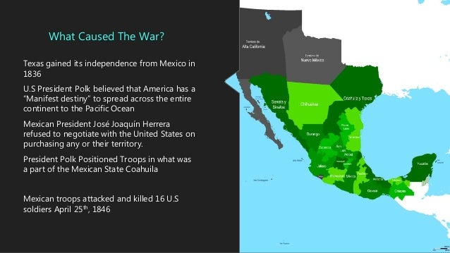 The Mexican American War Of 1846 - Us-map-before-mexican-american-war
