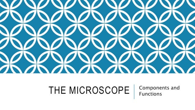 THE MICROSCOPE Components and Functions