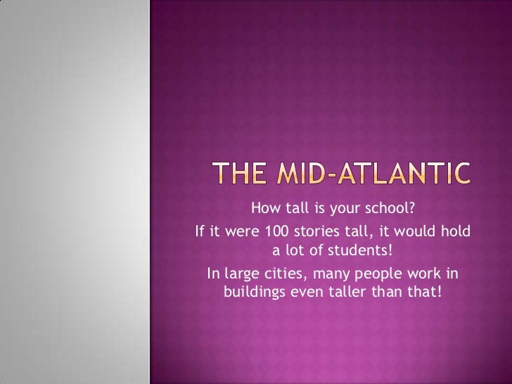 How tall is your school?If it were 100 stories tall, it would hold             a lot of students!  In large cities, many p...