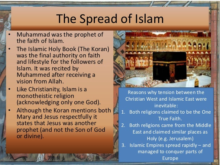 the spread of christianity and islam essay Compare the spread of islam and buddhism essay sample while both the islamic and buddhist religions attained a large following, the islamic religion diffused much more vastly and used more forceful tactics.
