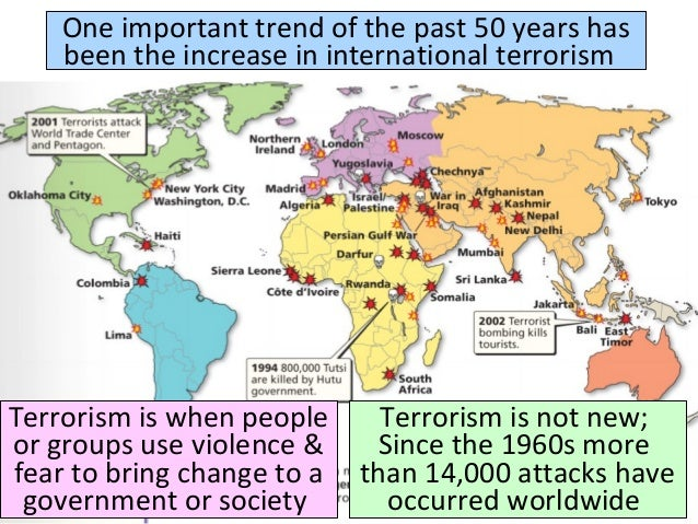 The destruction and fright brought by different terrorism attacks