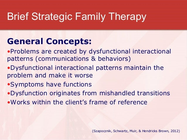 "strategic family therapy ""the bsft® program intervention is not about symptom reduction it's about restructuring and mobilizing the family to achieve that, our progr."