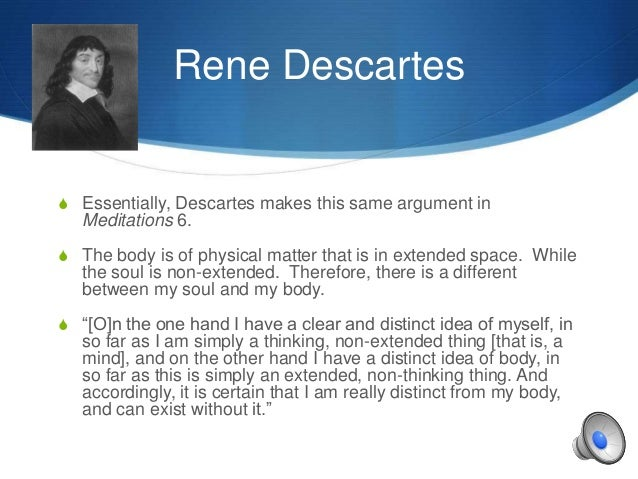 rene descartes arguments on memory in meditations Meditations on first philosophy by rene descartes in meditation one descartes doubts the existence of external objects because he has come to realize that many of the things he believed to be true in his youth are in fact false opinions.