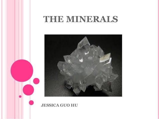 THE MINERALS  JESSICA GUO HU