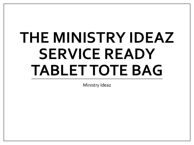 The Ministry Ideaz Service Ready Tablet Tote Bag
