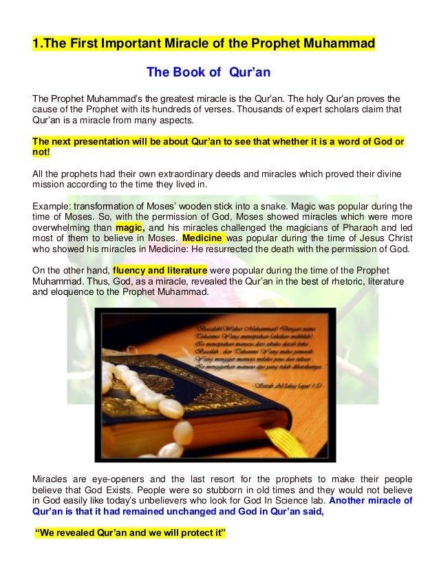 miracles of prophet muhammad pdf