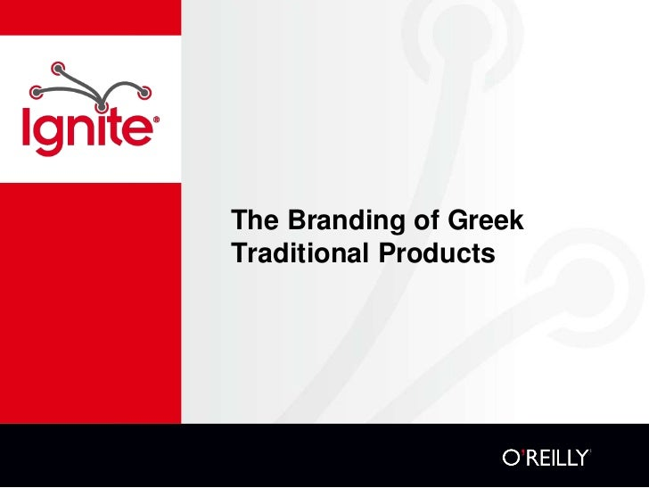 The Branding of GreekTraditional Products