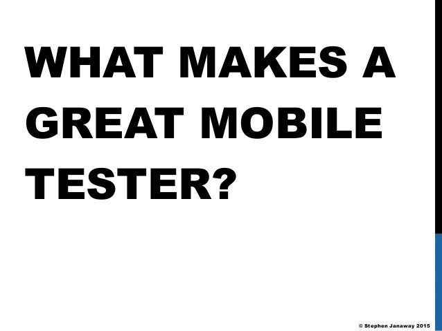 how to become a mobile app tester